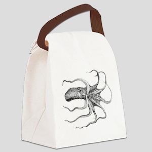Octopus Vintage Retro Canvas Lunch Bag