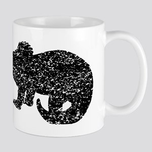 Distressed Baby Triceratops Silhouette Mugs