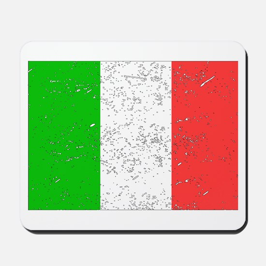 Italy Flag (Distressed) Mousepad