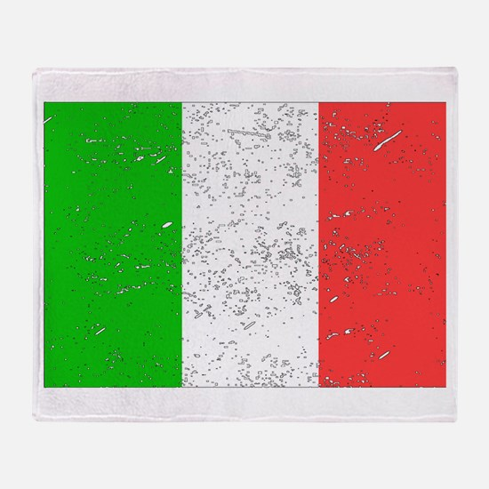 Italy Flag (Distressed) Throw Blanket