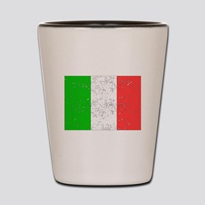 Italy Flag (Distressed) Shot Glass