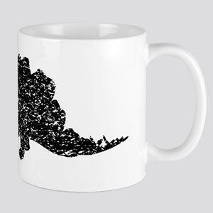Distressed Stegosaurus Silhouette Mugs