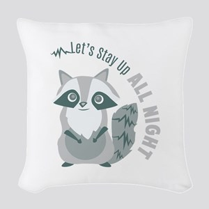 Up All Night Woven Throw Pillow