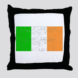 Ireland Flag (Distressed) Throw Pillow