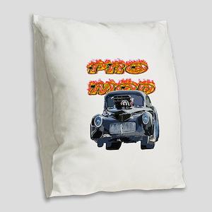 Pro Mod Burlap Throw Pillow