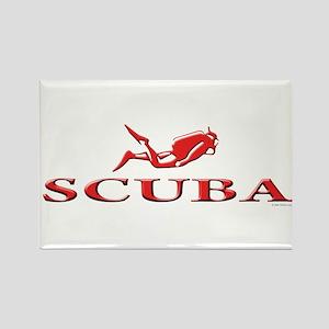 SCUBA Dive Rectangle Magnet
