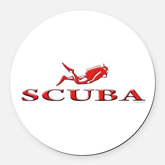 SCUBA Dive Round Car Magnet