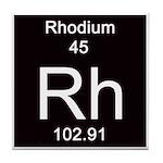 45. Rhodium Tile Coaster