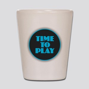 Time to Play Shot Glass