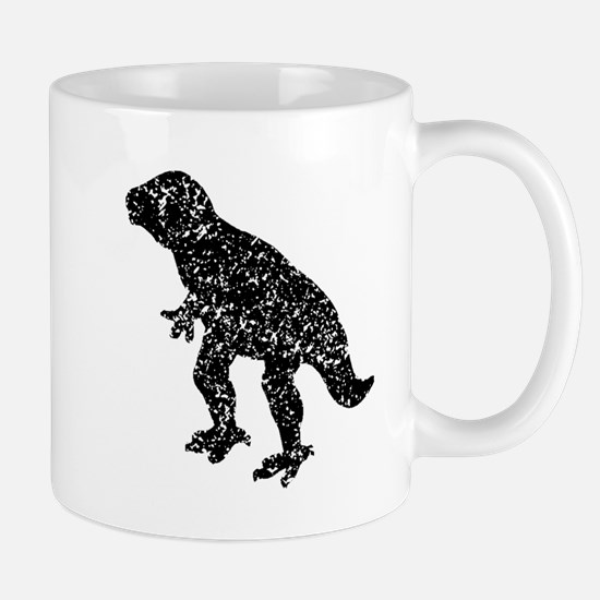 Distressed Dinosaur Silhouette Mugs