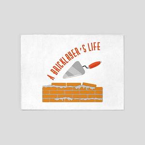 Bricklayers Life 5'x7'Area Rug