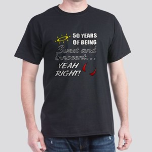 Cute 50th Birthday Humor Dark T-Shirt