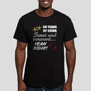 Cute 50th Birthday Hum Men's Fitted T-Shirt (dark)