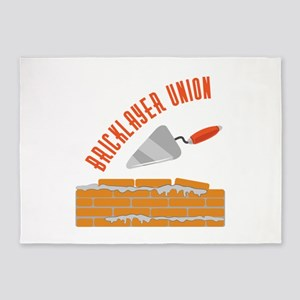 Bricklayer Union 5'x7'Area Rug