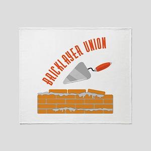 Bricklayer Union Throw Blanket