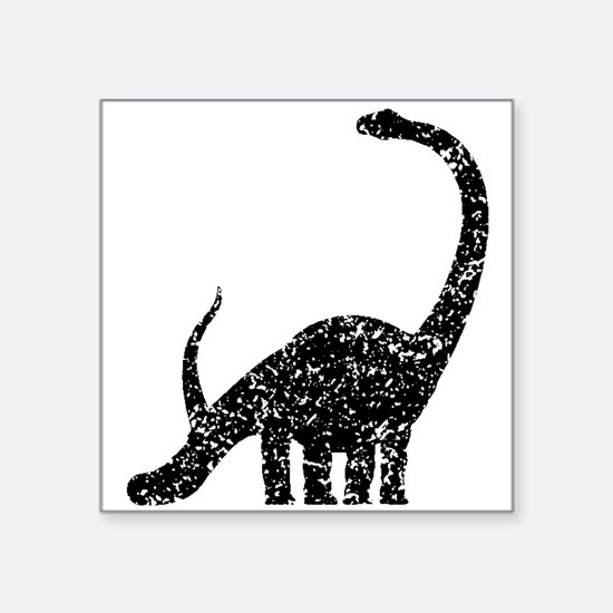 Distressed Brachiosaurus Silhouette Sticker
