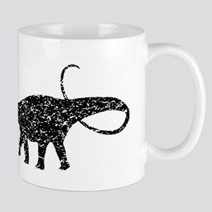 Distressed Apatosaurus Silhouette Mugs