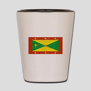Grenada Flag (Distressed) Shot Glass