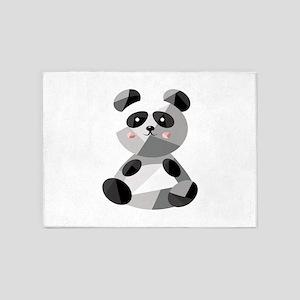 Panda Bear 5'x7'Area Rug