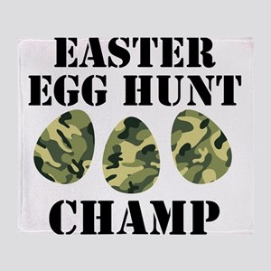 Easter Egg Hunt Champ Throw Blanket