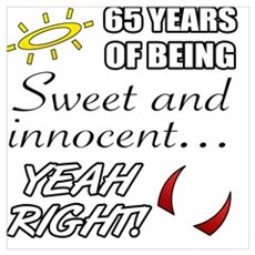 Cute 65th Birthday Humor Poster