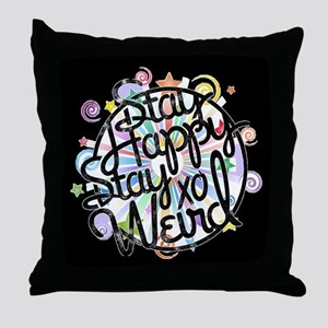 stay happy Throw Pillow