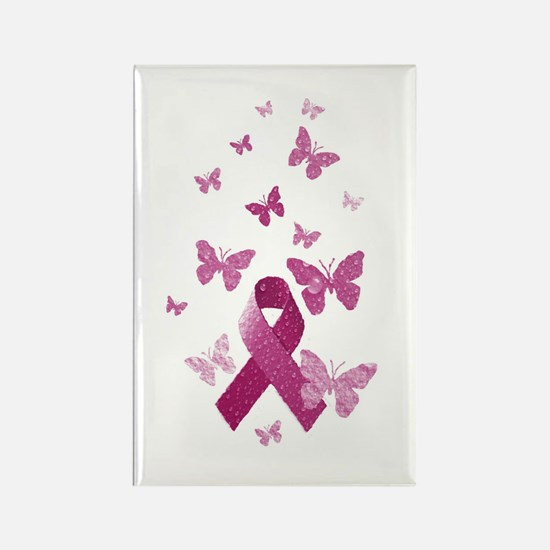 Pink Awareness Ribbon Magnets