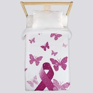 Pink Awareness Ribbon Twin Duvet