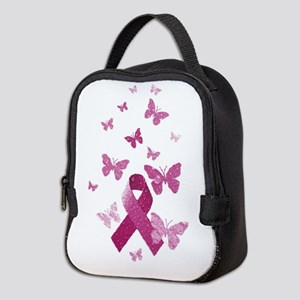 Pink Awareness Ribbon Neoprene Lunch Bag