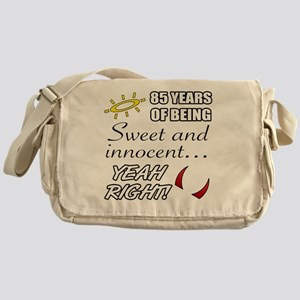Cute 85th Birthday Humor Messenger Bag