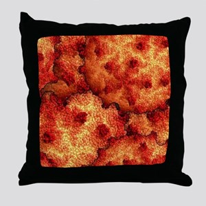 Red Coral Reef Throw Pillow