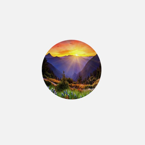 Country Sunrise Mini Button
