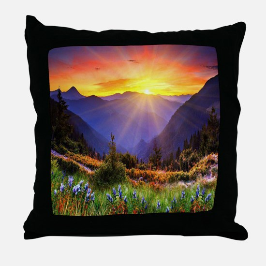 Country Sunrise Throw Pillow