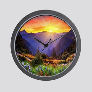 Country Sunrise Wall Clock