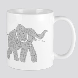 Distressed Grey Baby Elephant Mugs