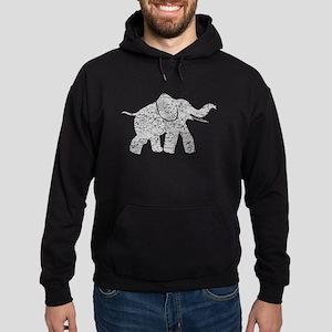 Distressed Grey Baby Elephant Hoodie
