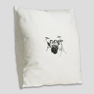 Drums Burlap Throw Pillow