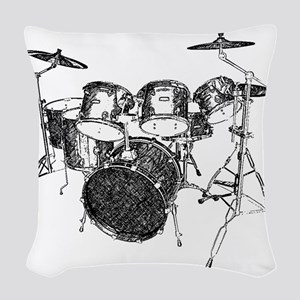 Drums Woven Throw Pillow