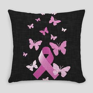 Pink Awareness Ribbon Everyday Pillow