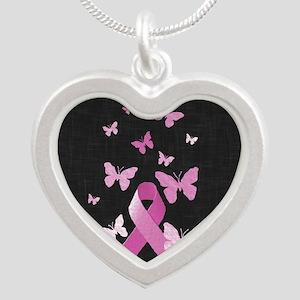Pink Awareness Ribbon Necklaces