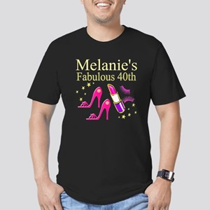 40 AND FABULOUS Men's Fitted T-Shirt (dark)