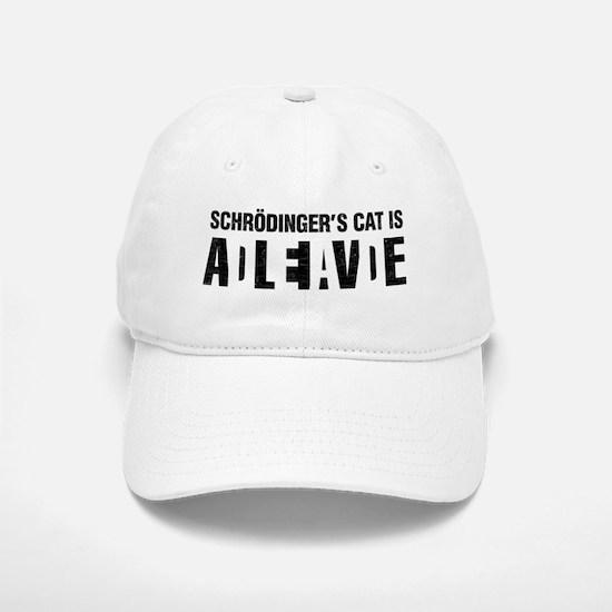 Schrodinger's cat is dead / alive. Baseball Cap