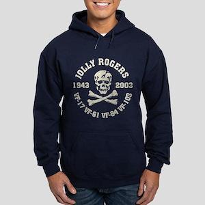 Jolly Rogers NAVY Hoodie (dark)