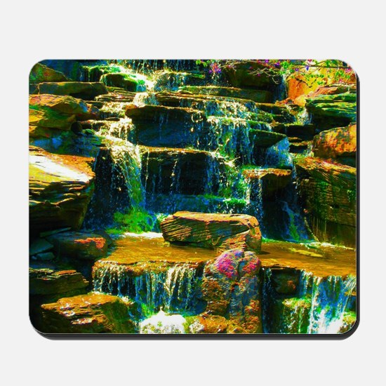 multicolor waterfall Mousepad