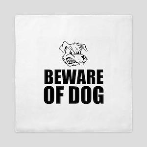 Beware of Dog Queen Duvet
