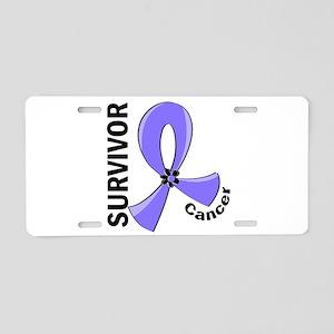 Esophageal Cancer Survivor Aluminum License Plate