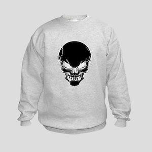 Black Skull Design Kids Sweatshirt