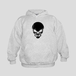 Black Skull Design Kids Hoodie