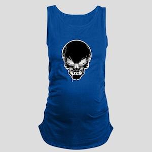 Black Skull Design Maternity Tank Top