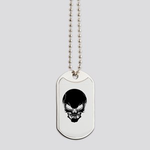Black Skull Design Dog Tags